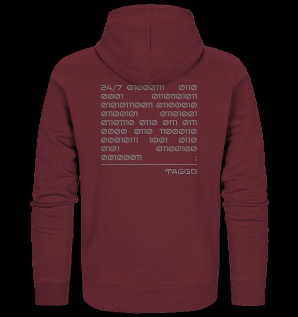 """""""24/7 binary"""" Organic Zipper"""