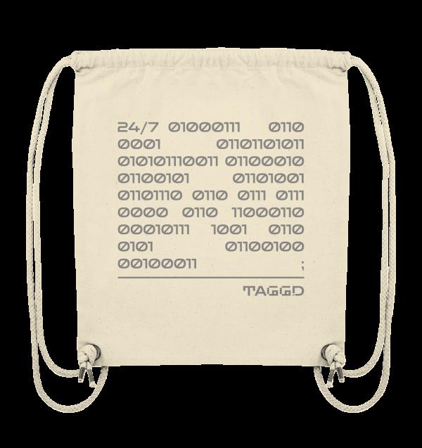 """24/7 binary"" Organic Gym Bag"