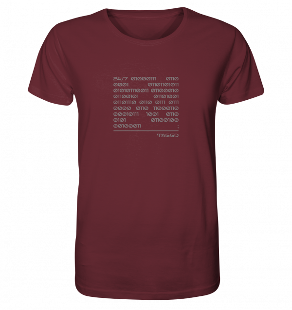 """24/7 binary"" Organic Shirt"