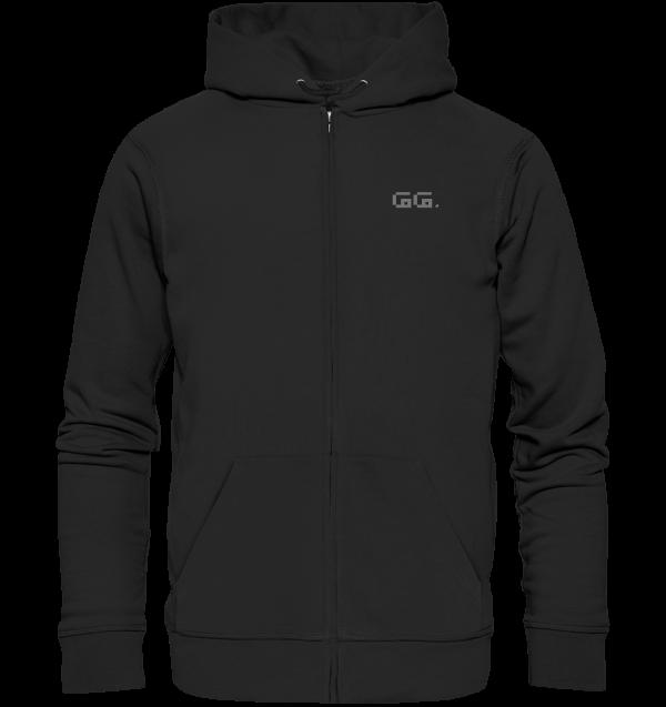 """GG"" grey Organic Zipper"