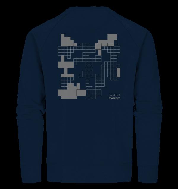 """de dust2"" Rückendruck Organic Sweatshirt"
