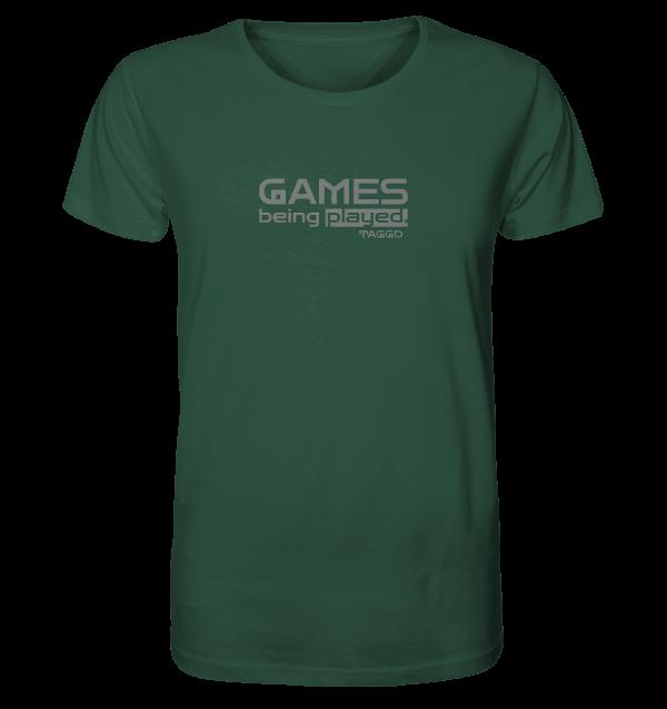 """""""games being played."""" Organic Shirt"""