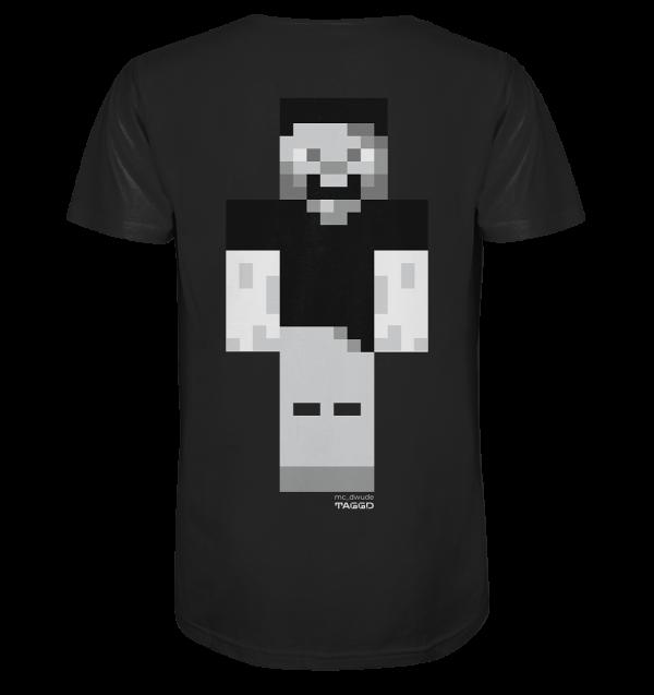 """mc dwude"" Mens Organic V Neck Shirt"