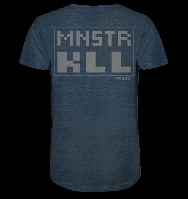 """""""mnstr kll"""" Rückendruck Organic Shirt (meliert)"""