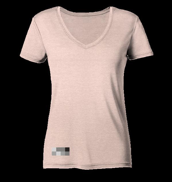 """mc dwude"" Ladies Organic V Neck Shirt"