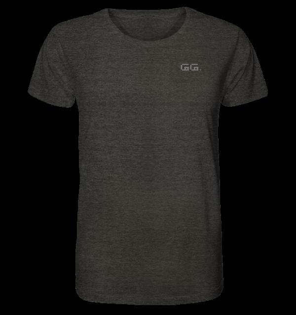 """need backup"" Rückendruck Organic Shirt (meliert)"
