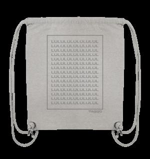 """lululul spam"" Rückendruck Organic Gym Bag"