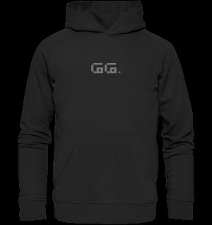 """GG"" grey Organic Hoodie"