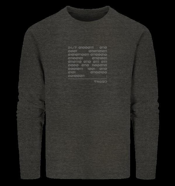 """""""24/7 binary"""" Organic Sweatshirt"""