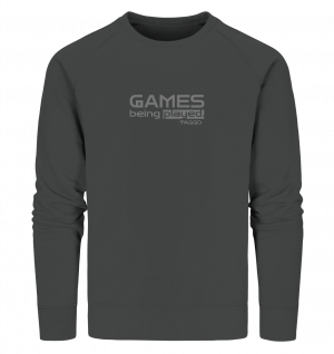 """""""games being played."""" Organic Sweatshirt"""