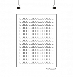 """lululul spam"" Poster Din A3 (hoch)"